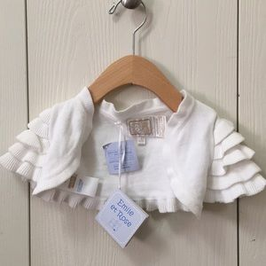 Emile et Rose Knit Off-White Shrug NWT